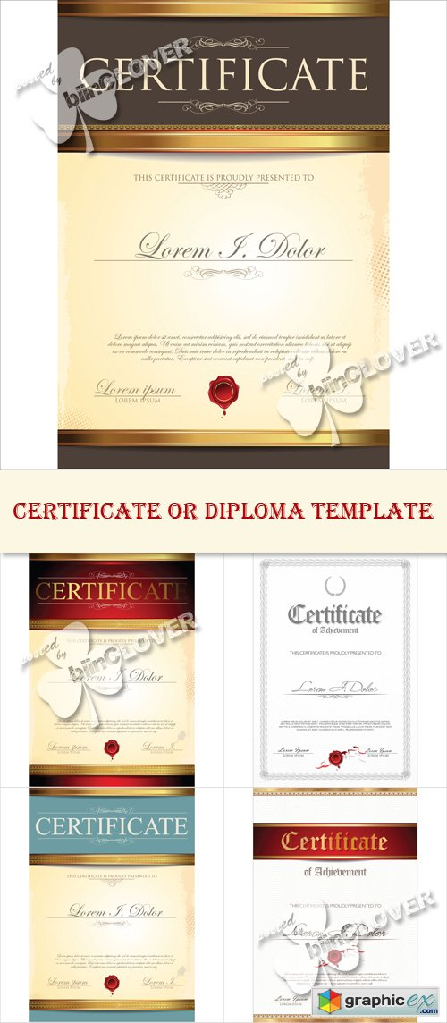 Vector Certificate or diploma template 0510