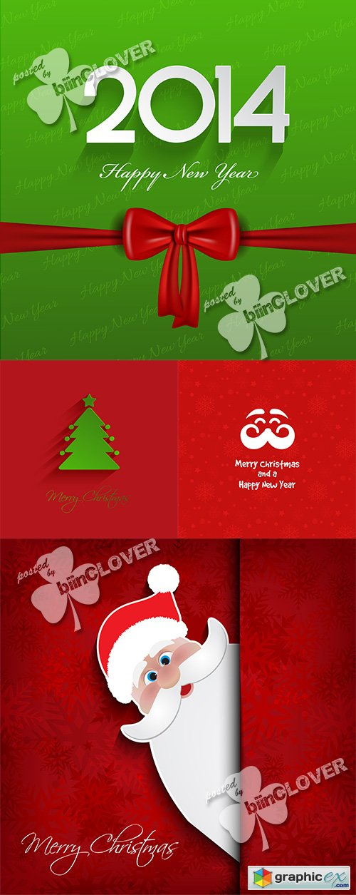 Vector Christmas 2014 background 0509