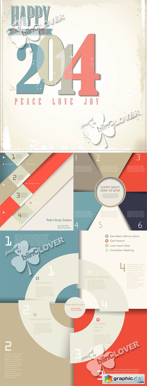 Vector Modern infographic design template 0507