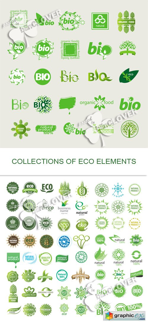 Vector Collection of eco elements 0506