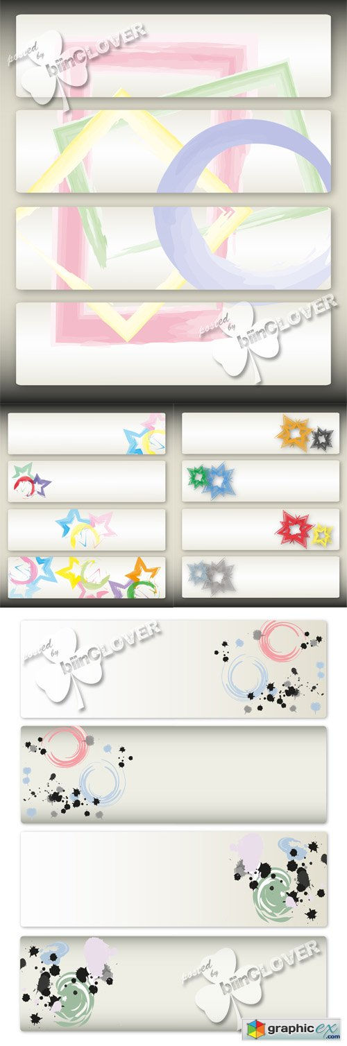 Vector Abstract banners 0506