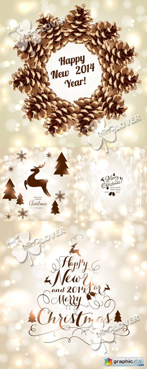 Vector Christmas and New Year design 0504