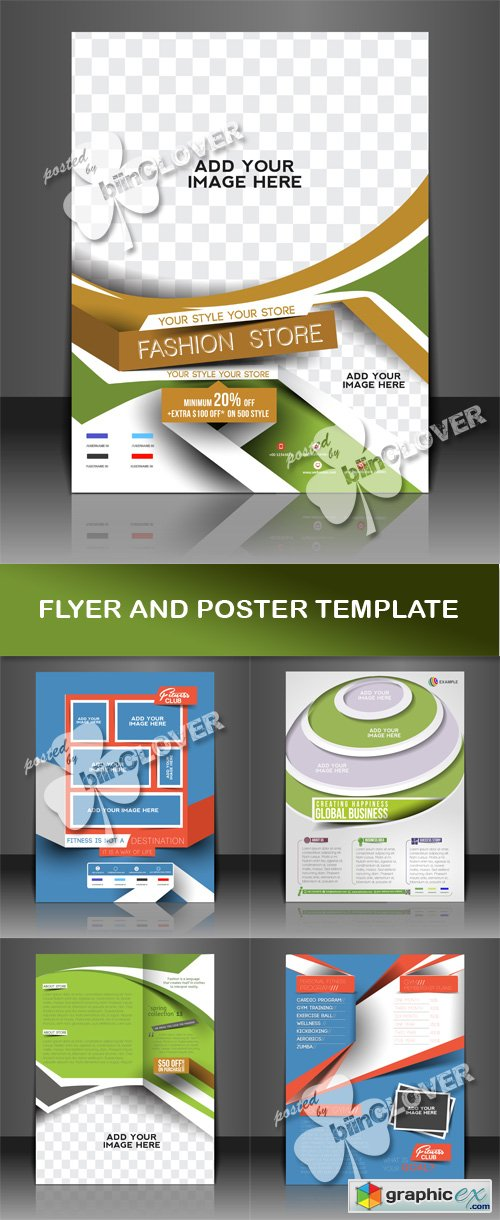 Vector Flyer and poster template 0503