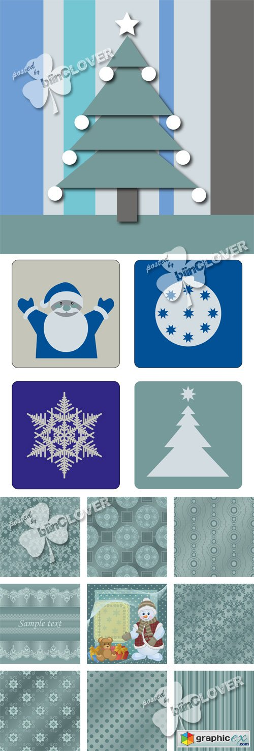 Vector Christmas decorations 0503