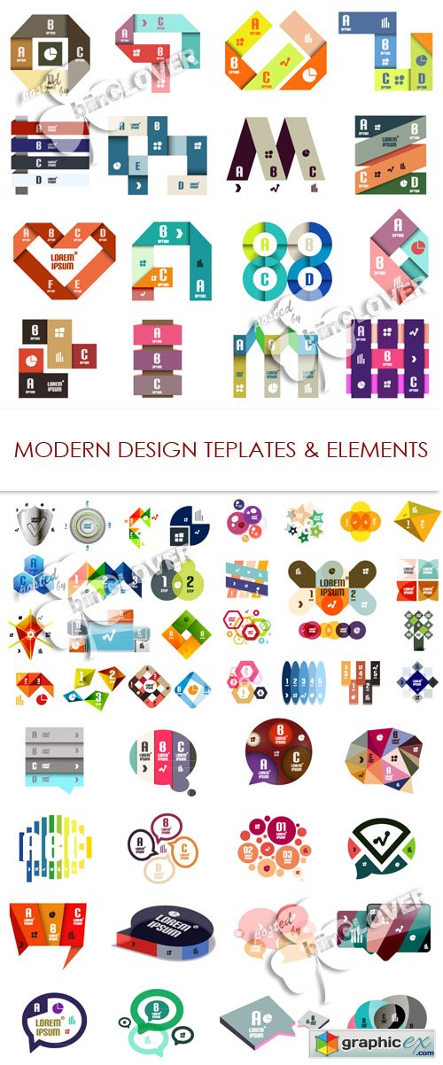 Vector Modern design templates and elements 0502