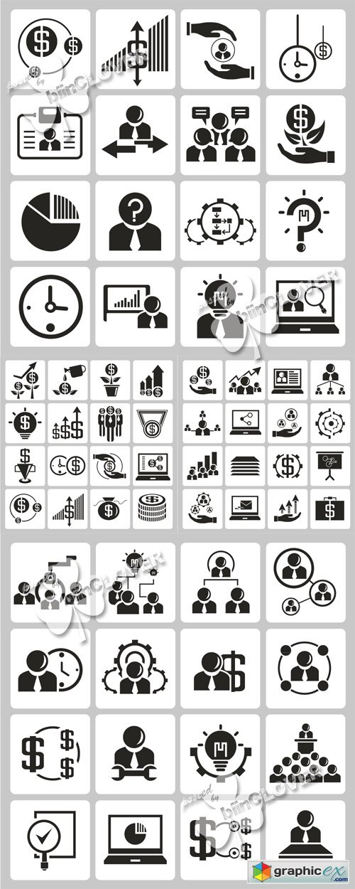 Money and business icons 0502