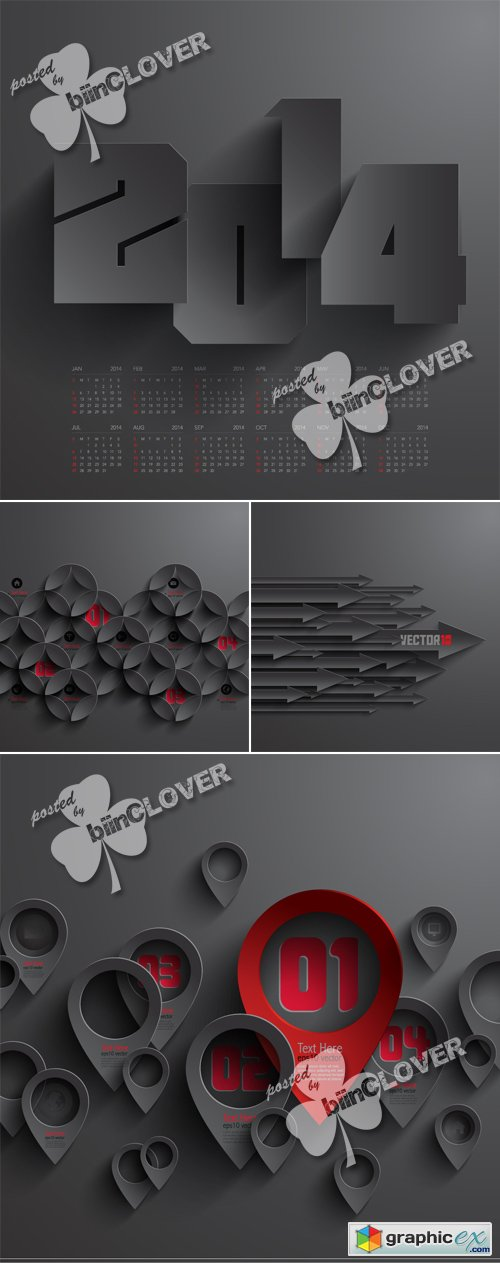 Vector 3D abstract  cards 0501