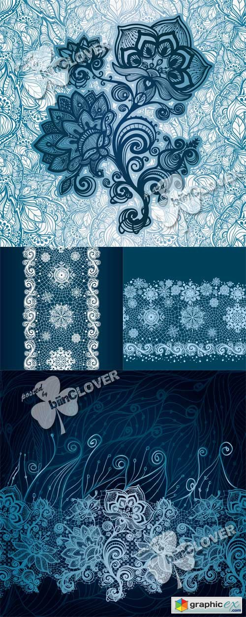 Vector Abstract lace decoration 0500