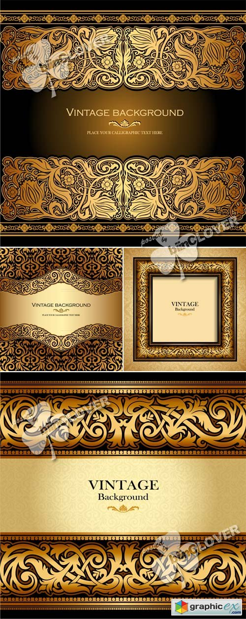 Vector Luxury ornamental background 0499