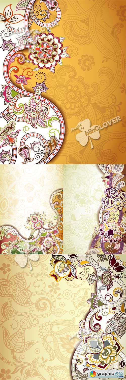 Vector Abstract floral background 0499