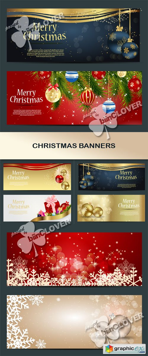 Vector Christmas banners 0498