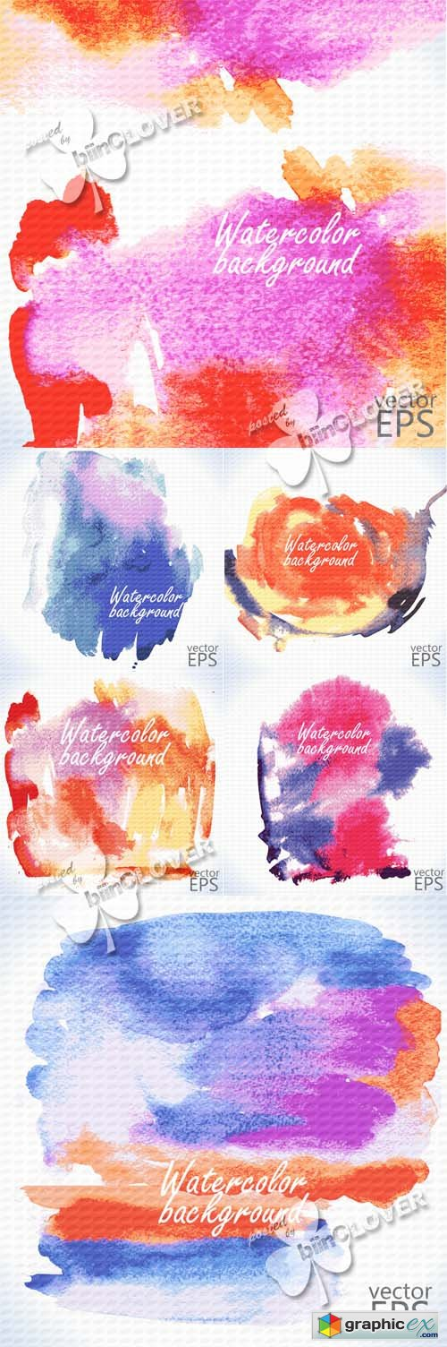 Vector Watercolor backgrounds 0498