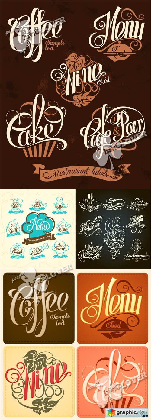 Vector Vintage restaurant menu designs 0497