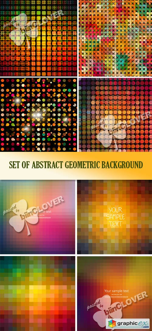Vector Set of abstract geometric background 0497