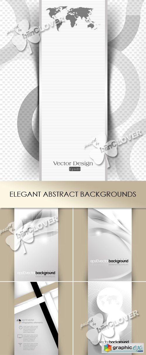 Vector Elegant abstract backgrounds 0497