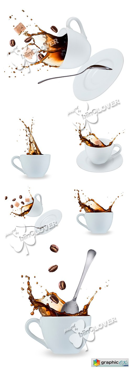 Stock Image Coffee splash 0495