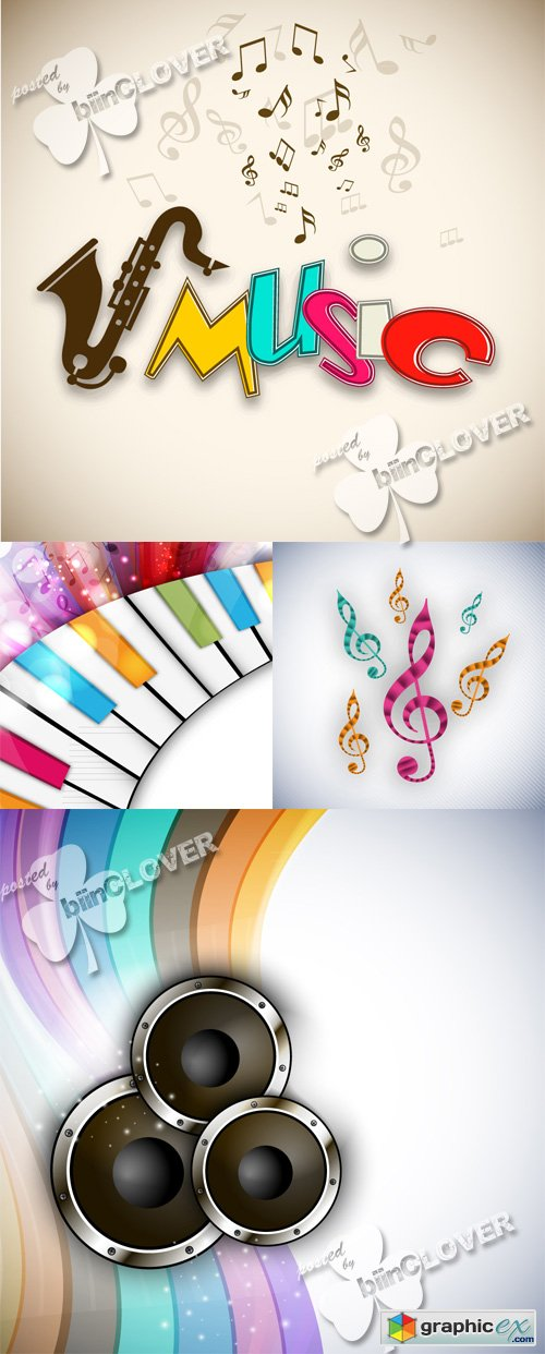 Vector Colorful music background 0494