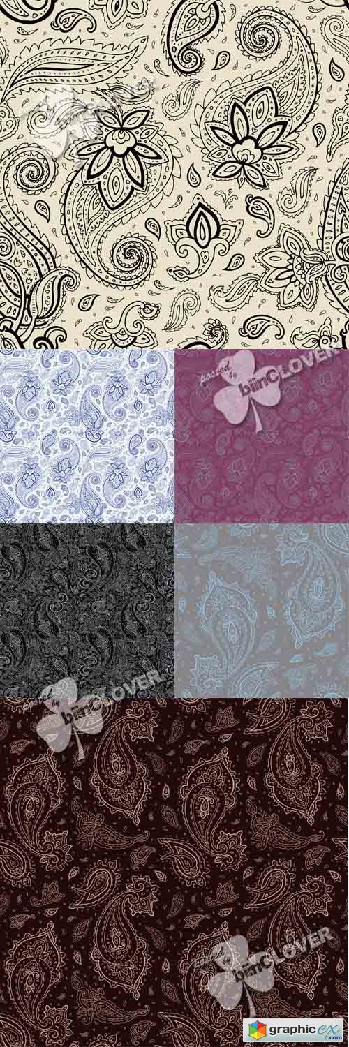 Vector Seamless paisley background 0547