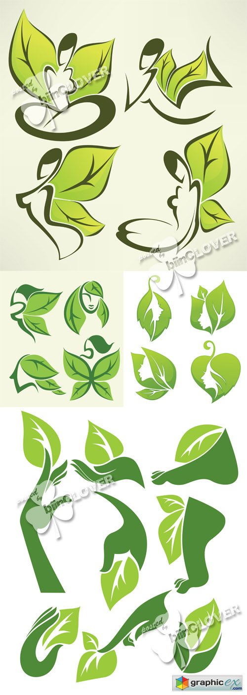 Vector Beauty and nature symbols 0493