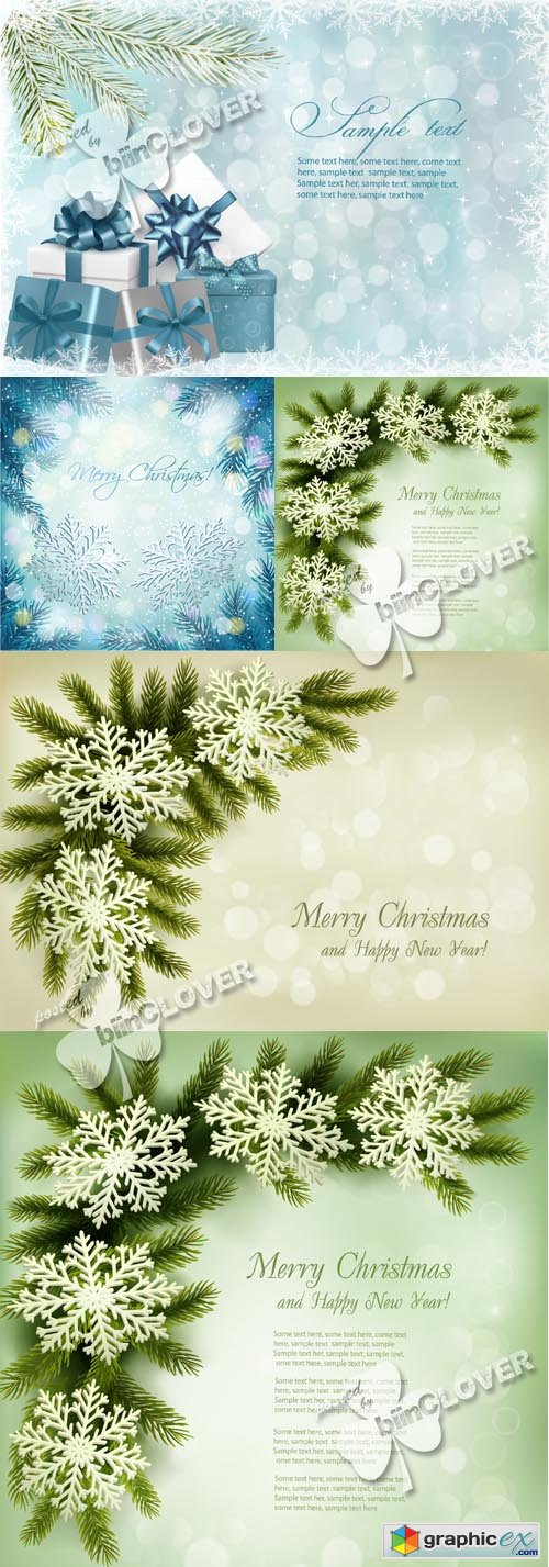 Vector Christmas background with snowflakes 0489