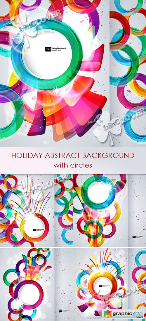Vector Holiday abstract background with circles 0487
