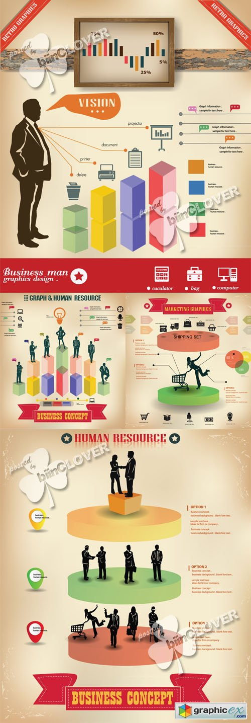 Vector People business infographic design 0487