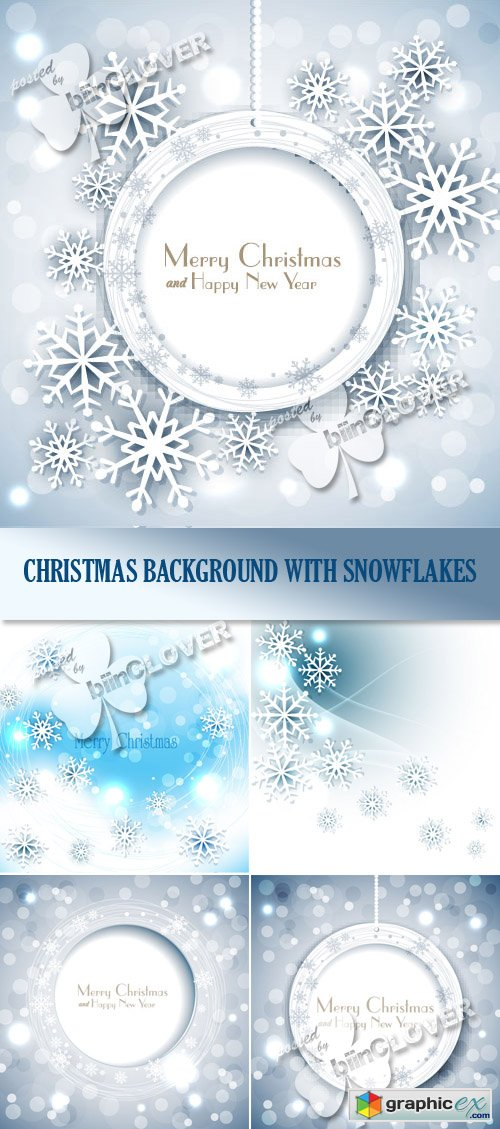 Vector �hristmas background with snowflakes 0485