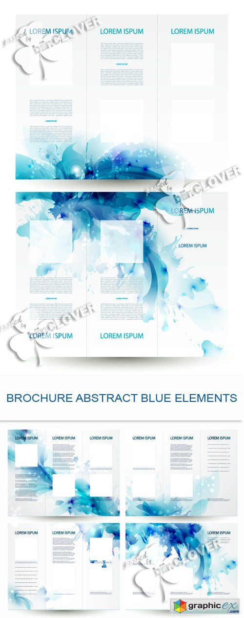 Vector Brochure abstract blue elements 0485