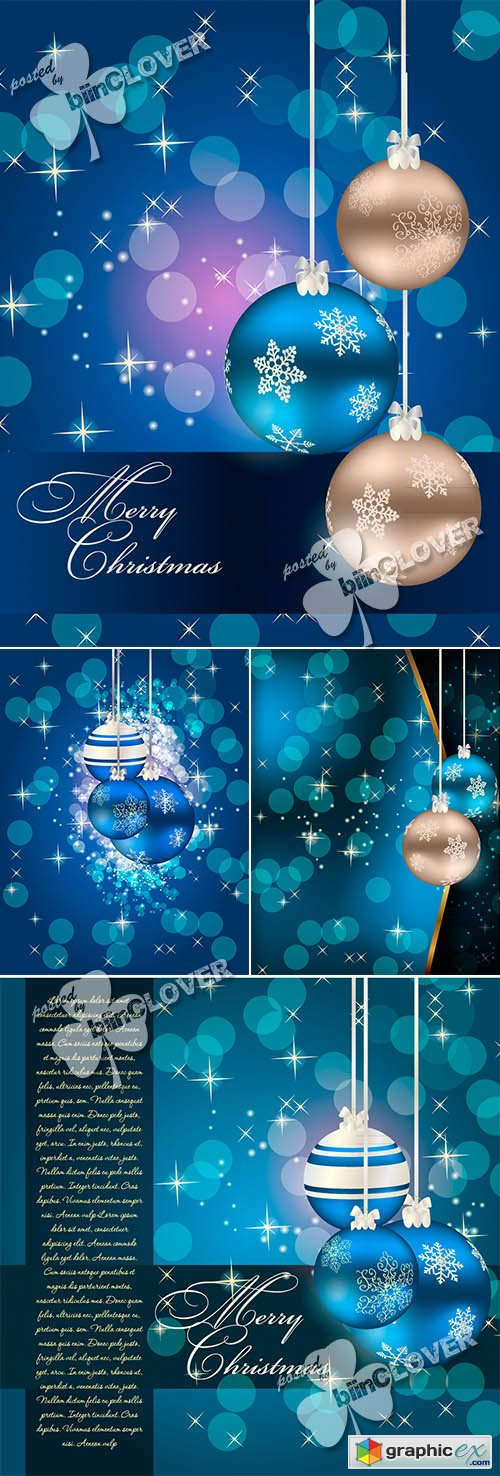 Vector Christmas and New Year background 0485