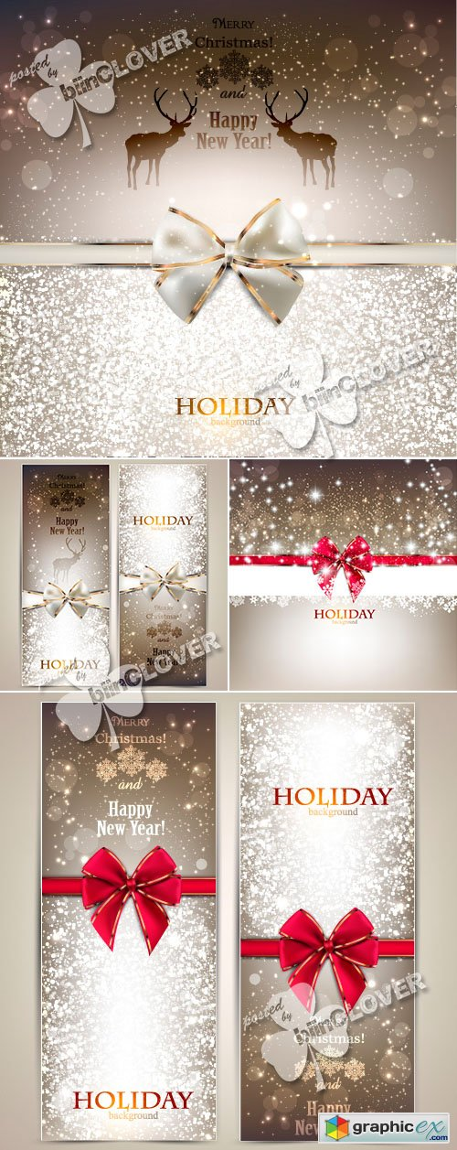 Vector Merry Christmas cards 0485