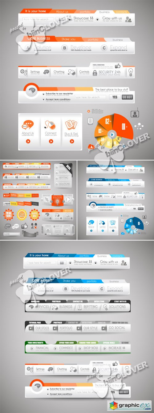 Vector Web elements for sites 0484