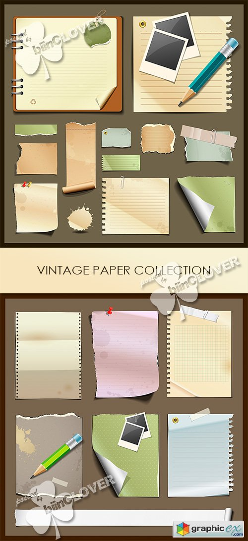Vector Vintage paper collections 0484
