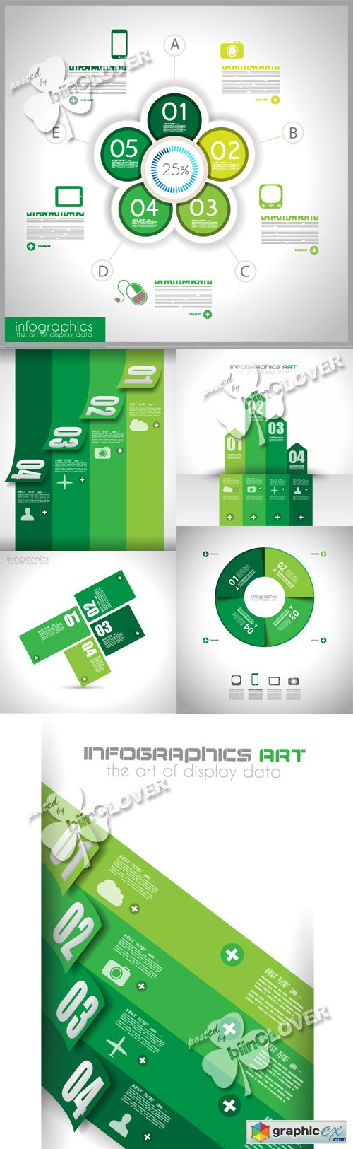 Vector Modern infographic design template 0483