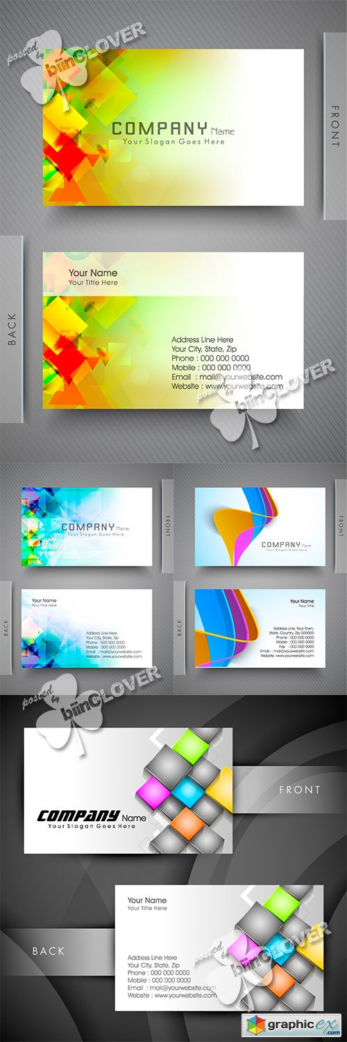 Vector Business card set 0480