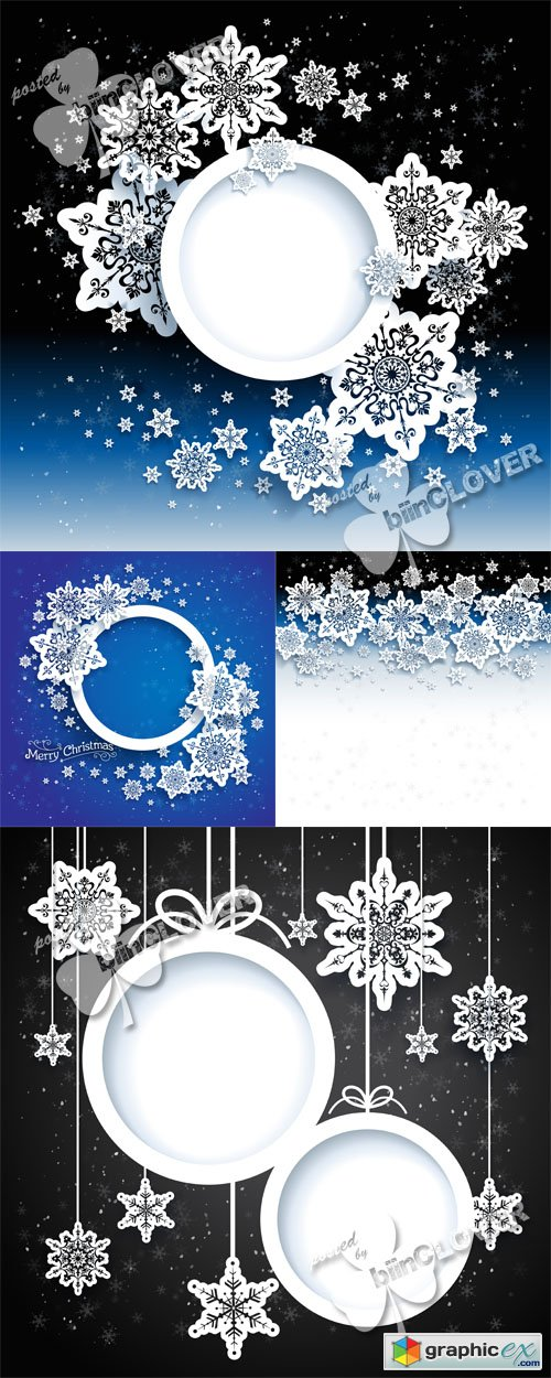 Vector Christmas background with snowflakes 0478