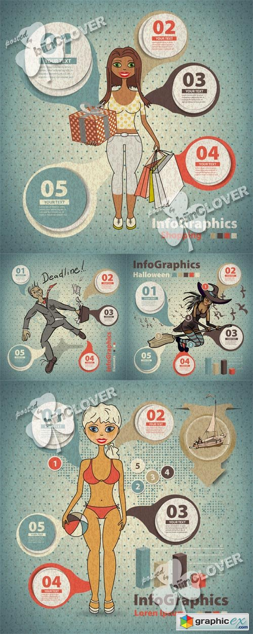 Vector Template for infographic 0476
