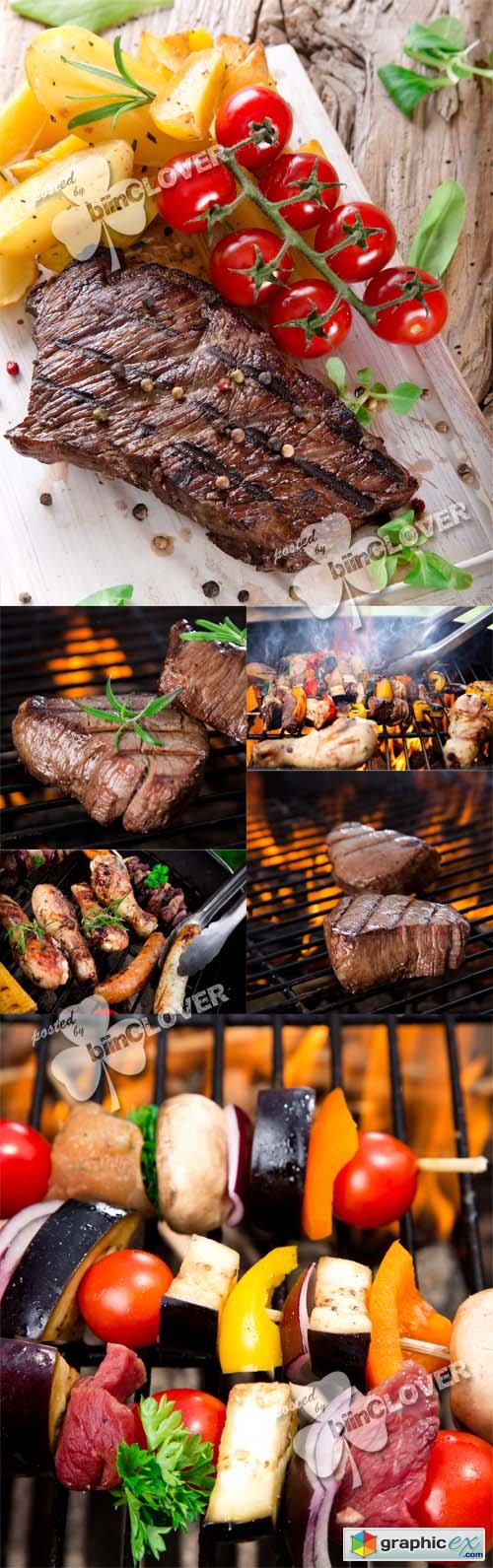 Vector Grilled meat 0475
