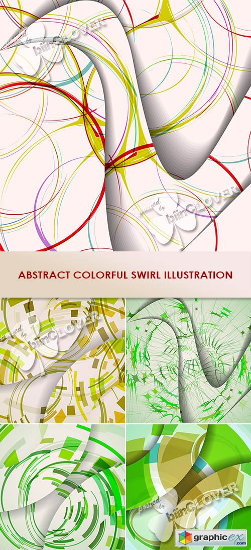 Vector Abstract colorful swirl illustration 0471