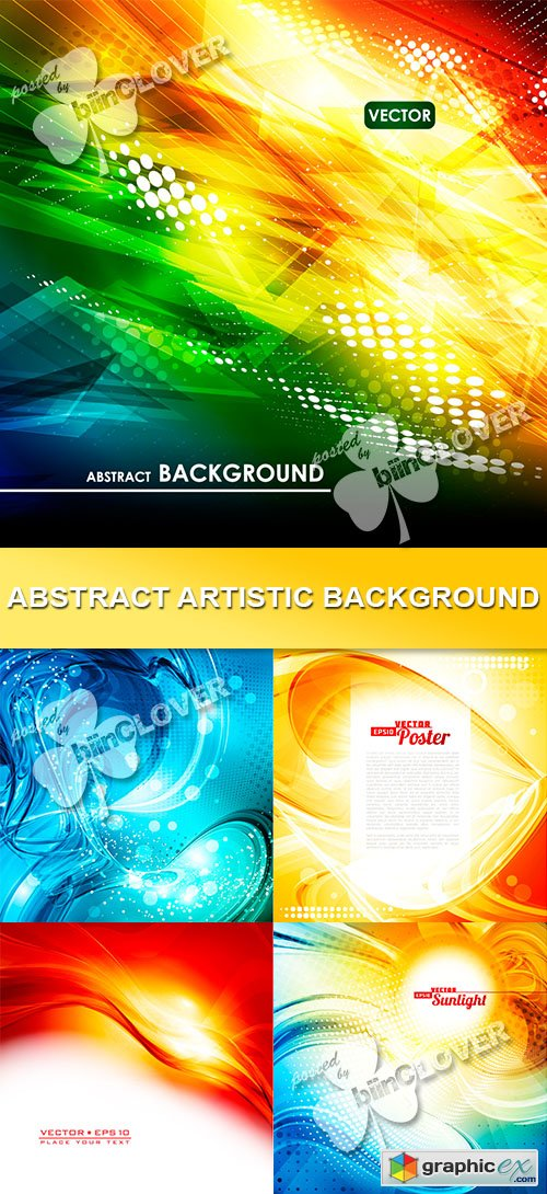 Vector Abstract artistic background 0471