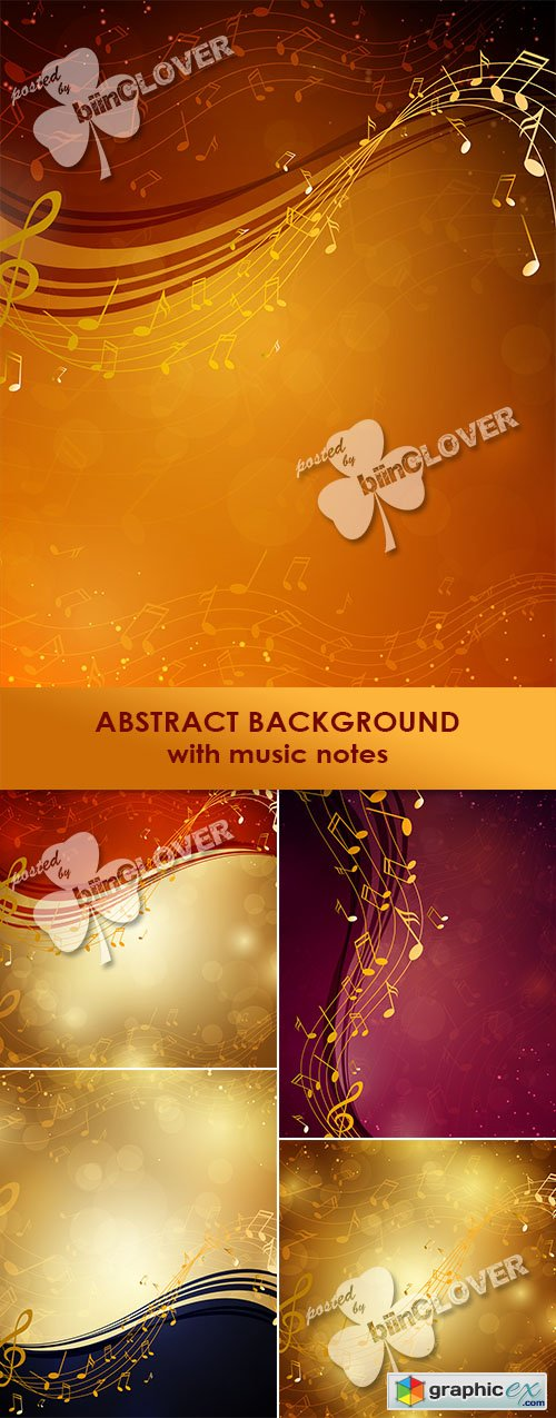 Vector Abstract background with music notes 0470