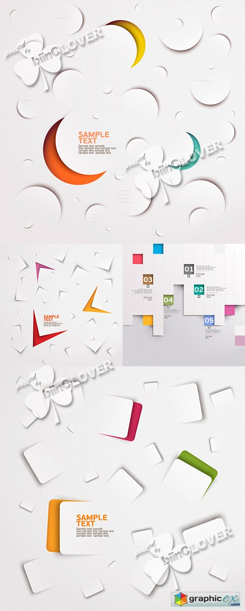 Vector Paper cut abstract background 0469