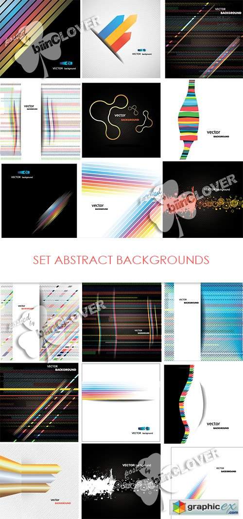 Vector Set abstract backgrounds 0468