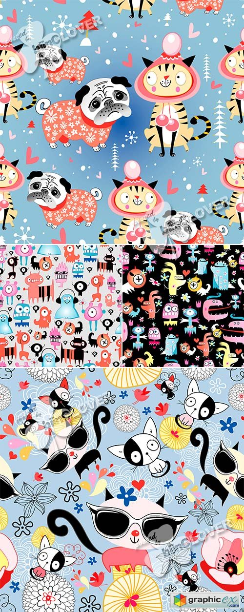 Vector Texture of funny character 0468