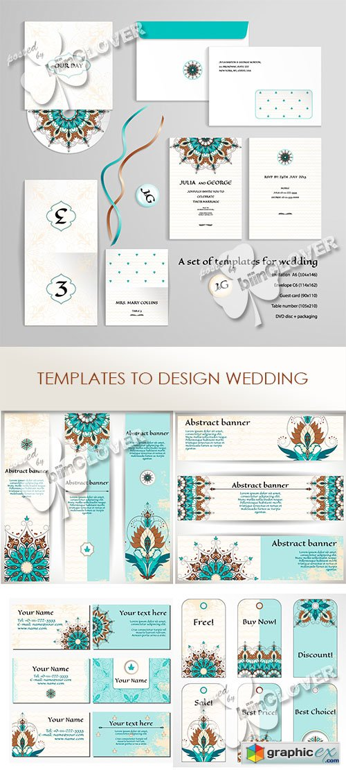 Vector Templates to design wedding 0467