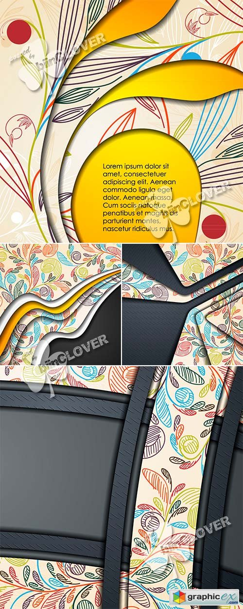 Vector Layered abstract background 0467