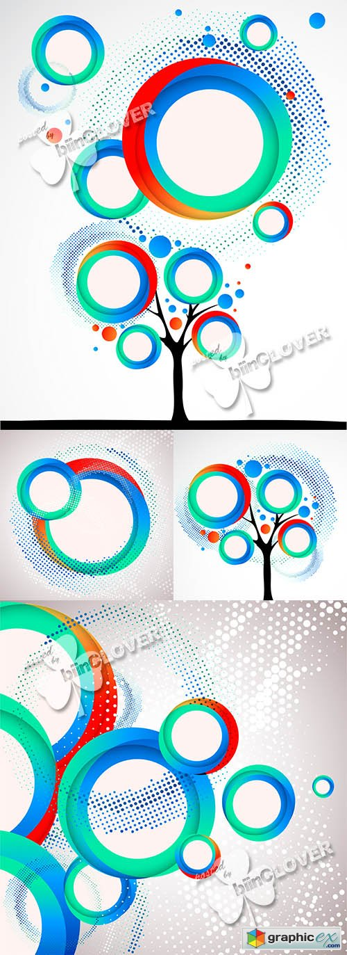 Vector Abstract circle background 0467