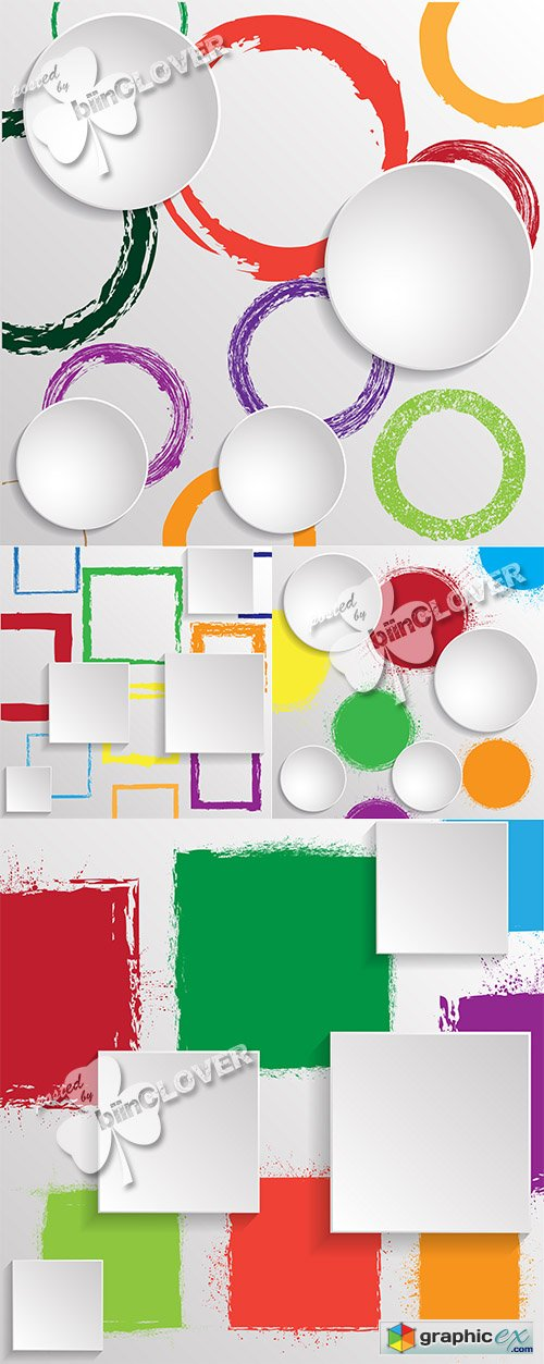 Vector Abstract 3D geometric backgrounds 0464