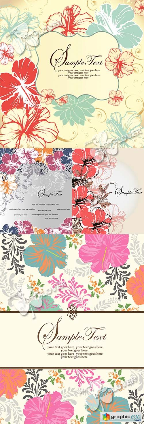 Vector Abstract floral background 0464