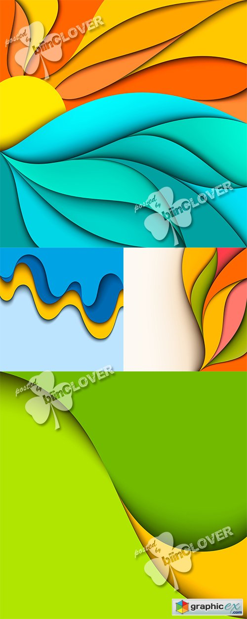 Vector Abstract wavy backgrounds 0464