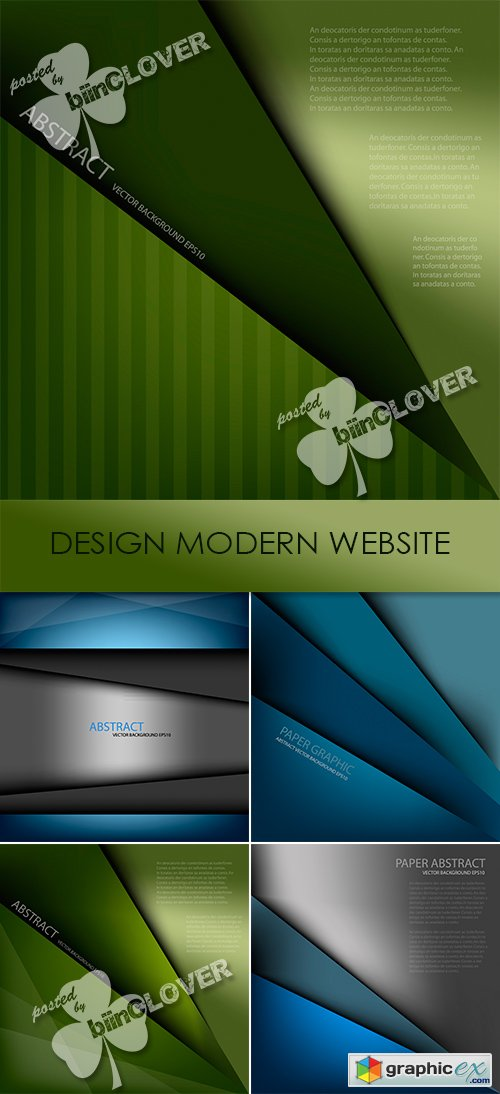 Vector Design modern website 0464